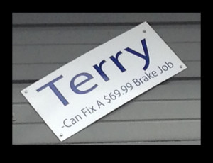 terry sign - cagle front end and tire - decatur, AL